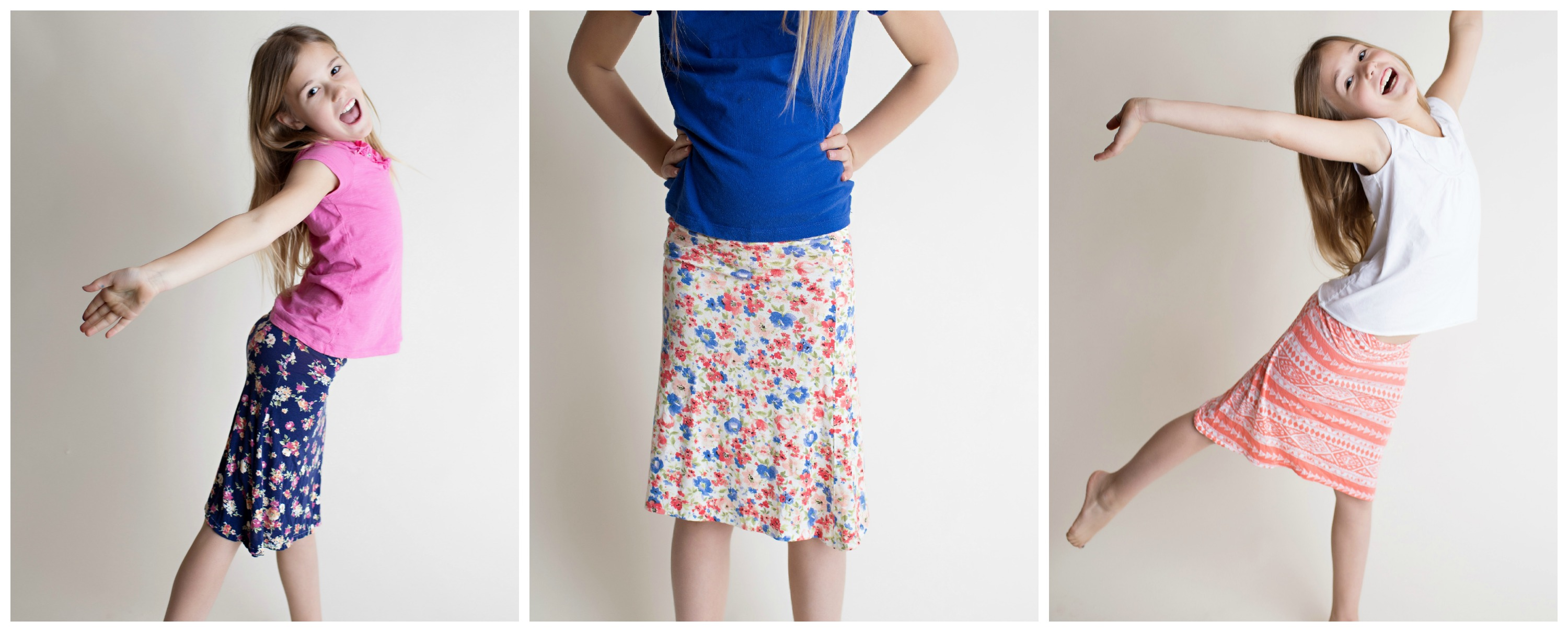 Girl Charlee kids maxi skirt these are the days sewing fun
