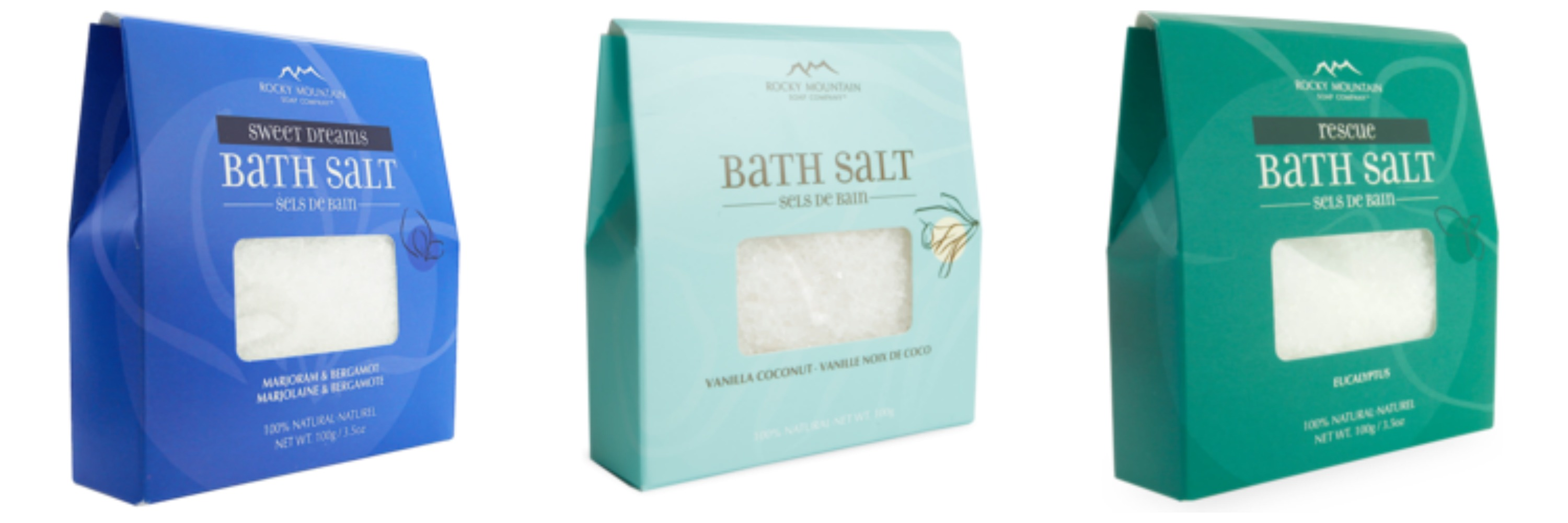 Rocky mountain soap company these are your days natural bath products bath salts collage