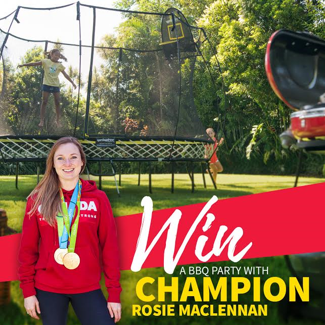 Blog Rosie MacLennan Springfree Trampoline contest these are your days cute like me win canada 150