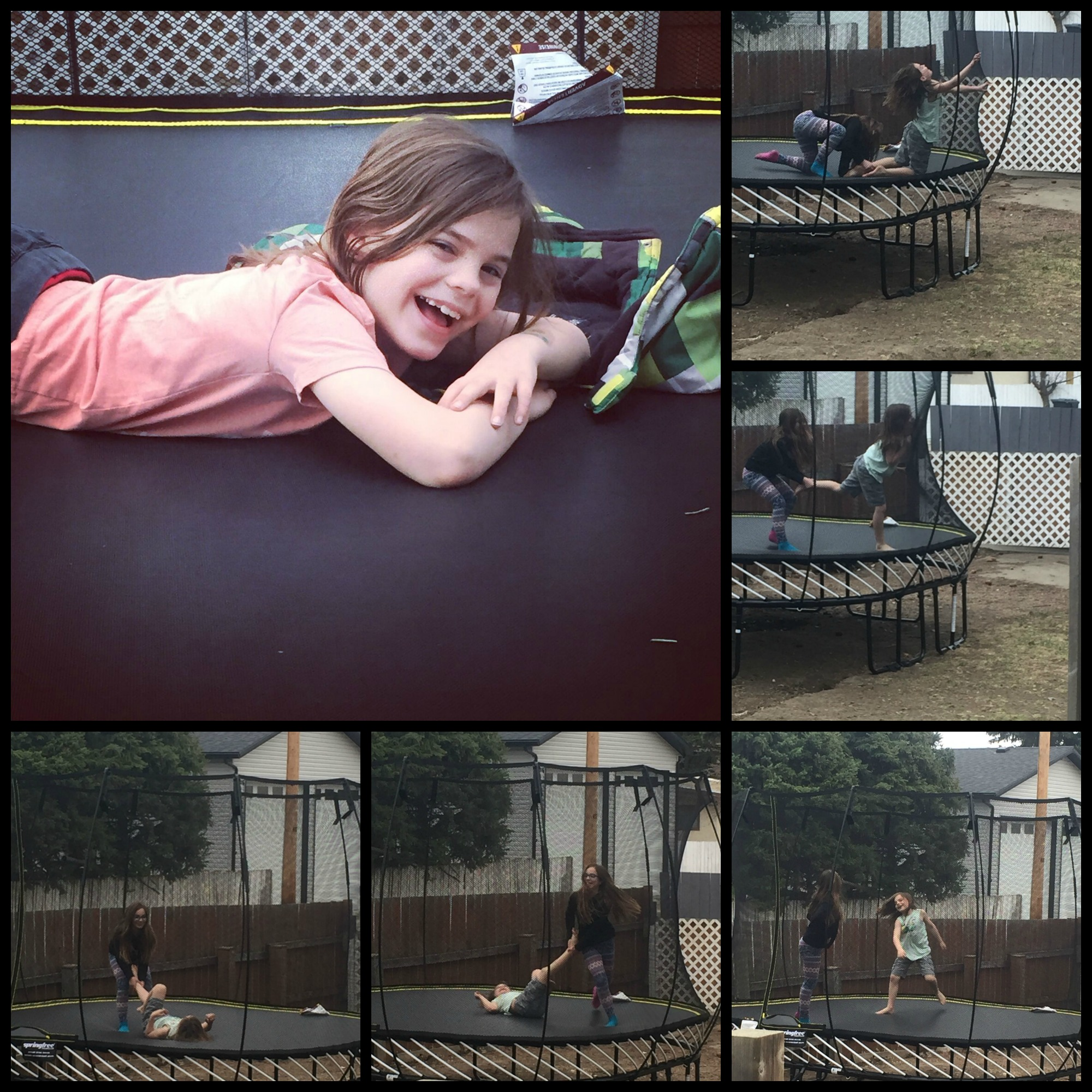 Springfree trampoline blogger these are your days canada 150 childhood unplugged collage